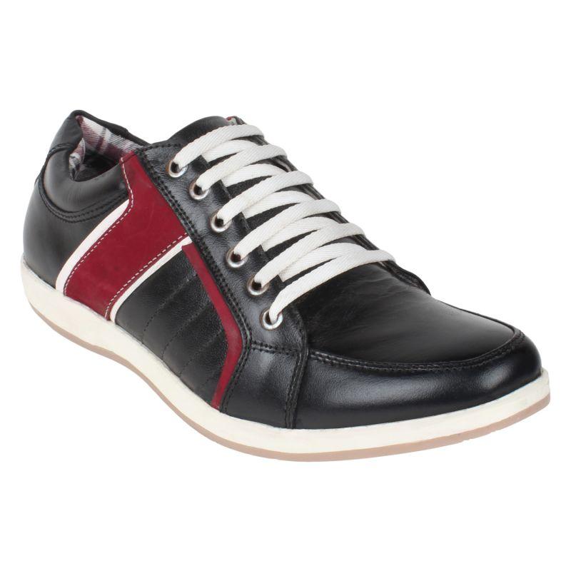 Buy Notable Black Leather Sneaker - Gv15ja271 online