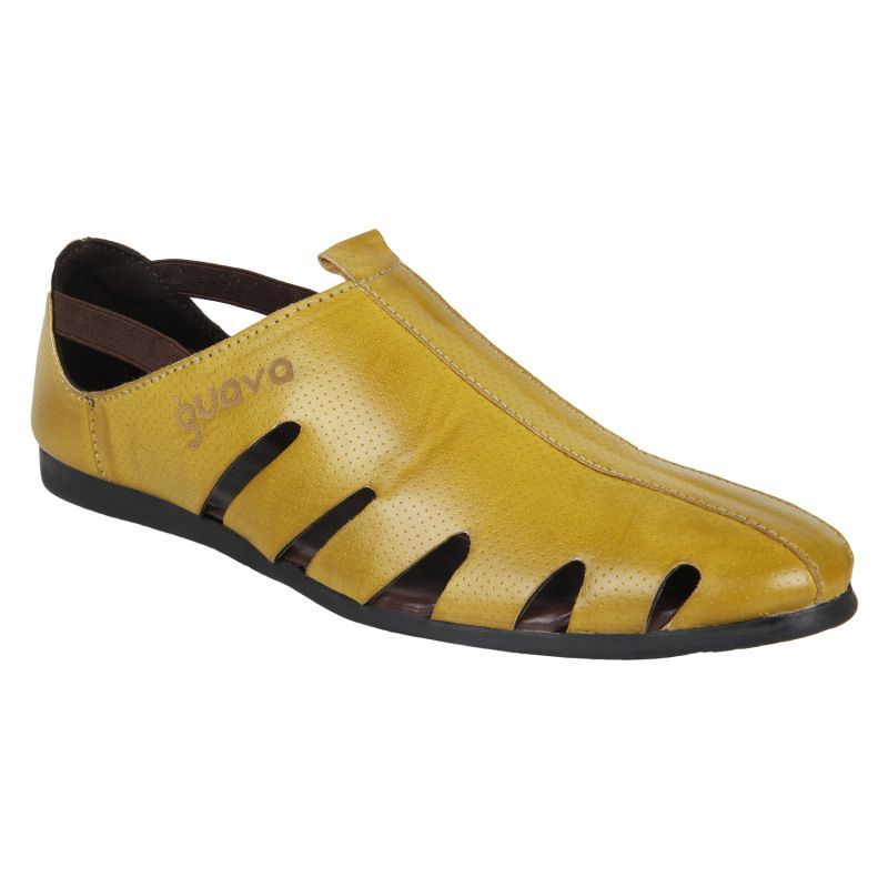 Buy Guava Men's mustard Sandals online