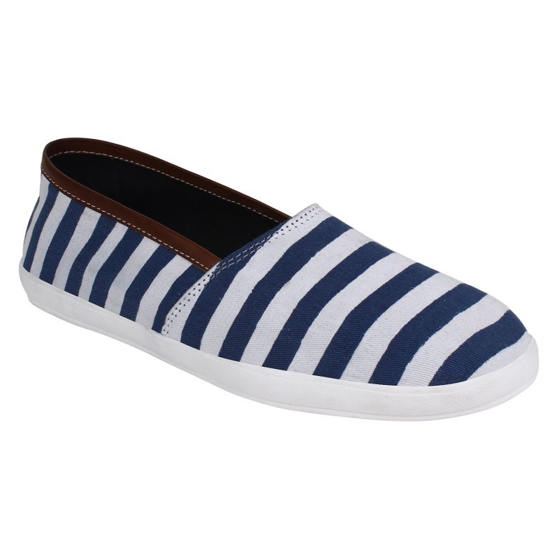 Buy Hirolas Men Stripe Slip-ons - Blue - Hrl16012 online