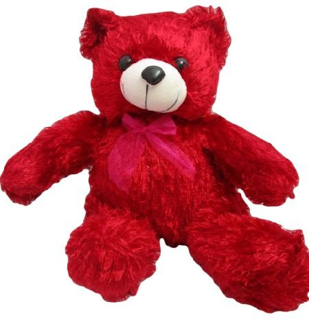 86c011464adf5 Buy Teddy Bear Soft Toy Color Red L15 W19 H30 Cms Online