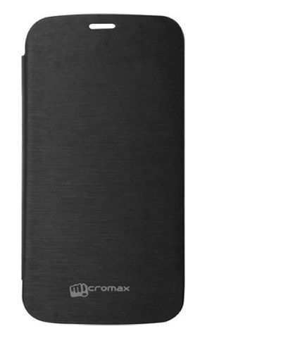 Buy Gci Flip Cover For Micromax A250 (black) online