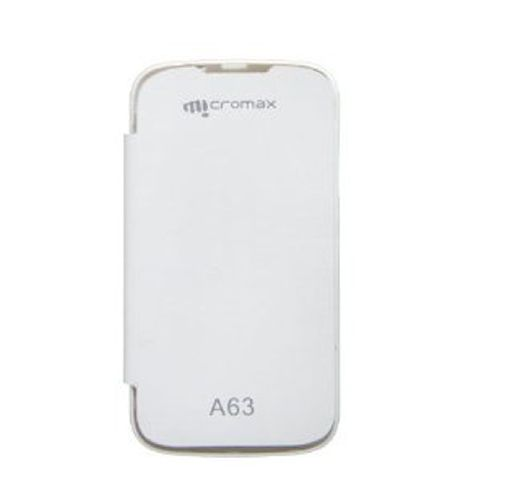Buy Gci Flip Cover For Micromax A63 (white) online