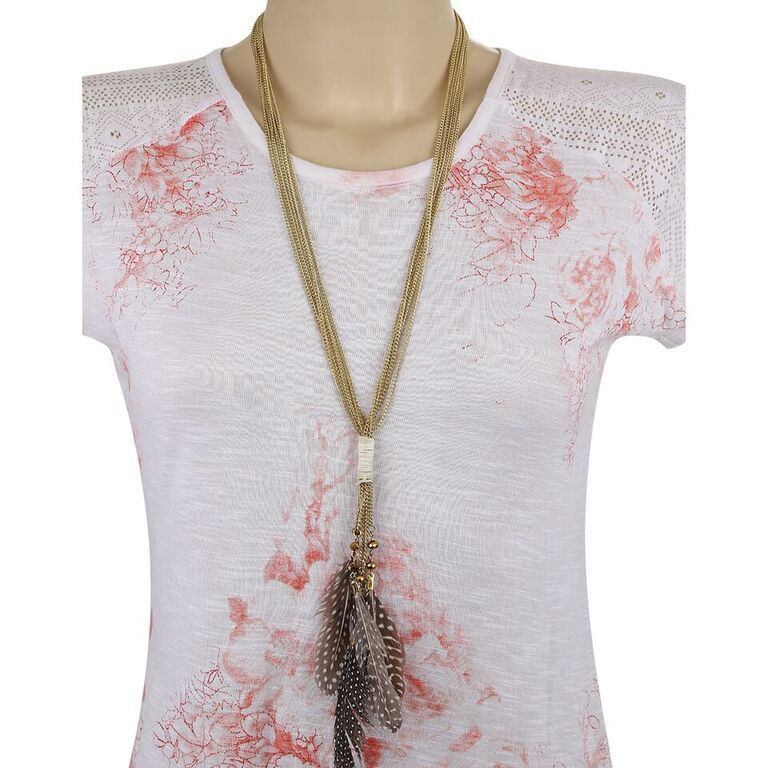 Buy Adbeni Real Feathers On Metal Handcraft Necklace-adb-002 online