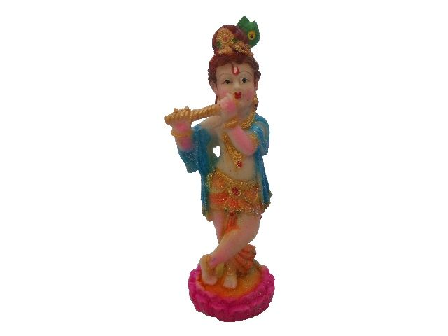 Buy Gci Marble Beautiful Colorful Krishna Statue online