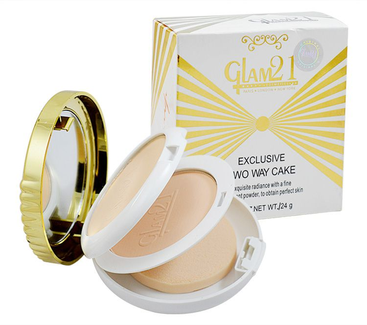 Buy Glam 21 Exclusive Two Way Cake Powder With Liner & Rubber Band -aaoa-(code-gm-8868-cmptpdr-lt28-m-eylnr-fl) online