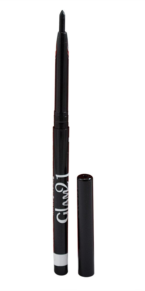 Buy Glam 21 Black Longlasting Kajal With Liner & Rubber Band-(code-gm-blk-kjl-lt28-m-eylnr-fl) online