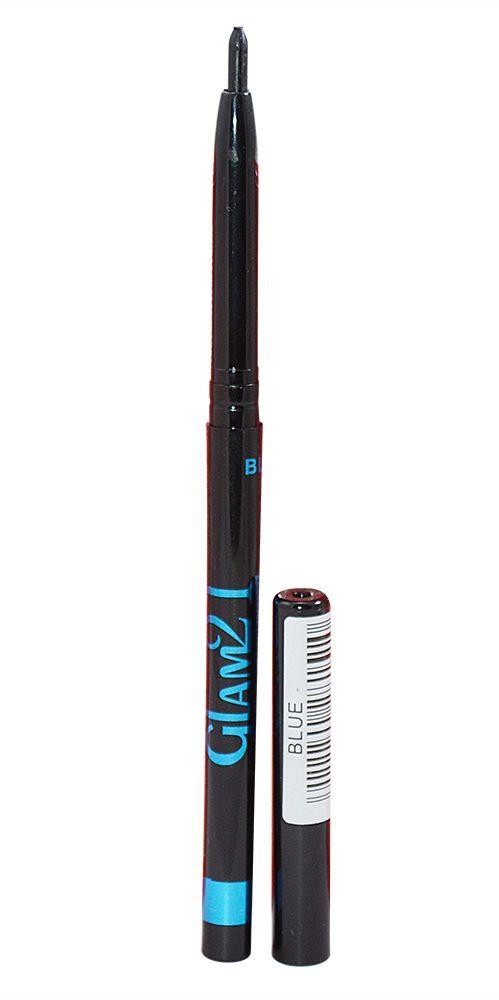 Buy Glam 21 Blue Longlasting Kajal With Liner & Rubber Band-(code-gm-blu-kjl-lt28-m-eylnr-fl) online