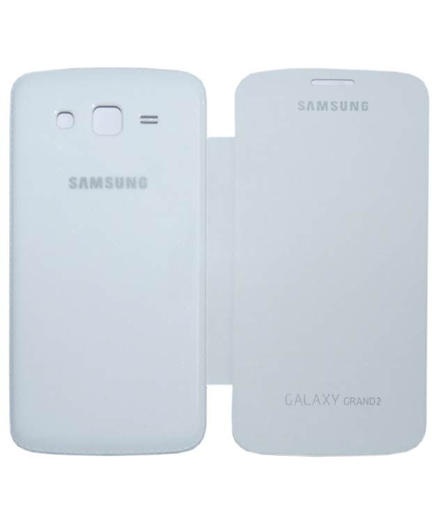 Buy Gci Flip Cover For Samsung Galaxy Grand2 (white) online