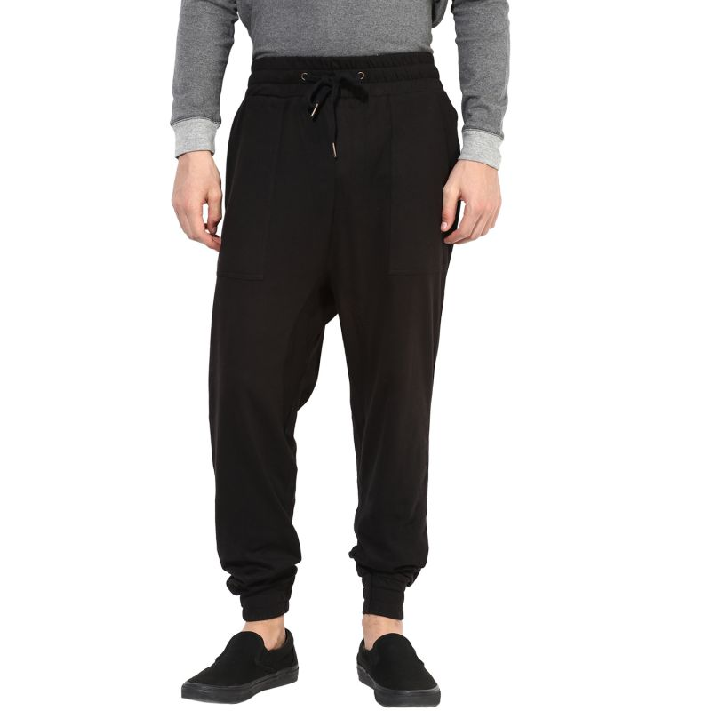 Buy Hypernation Black Double Crotch Cotton Pants online