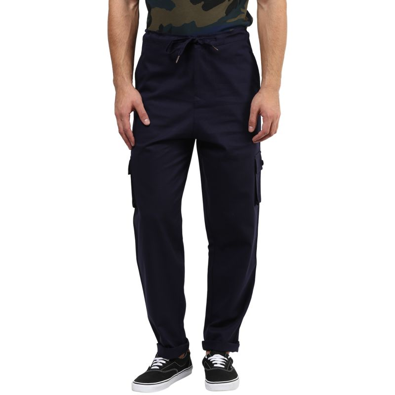 Buy Hypernation Blue Cargo Cotton Pants online