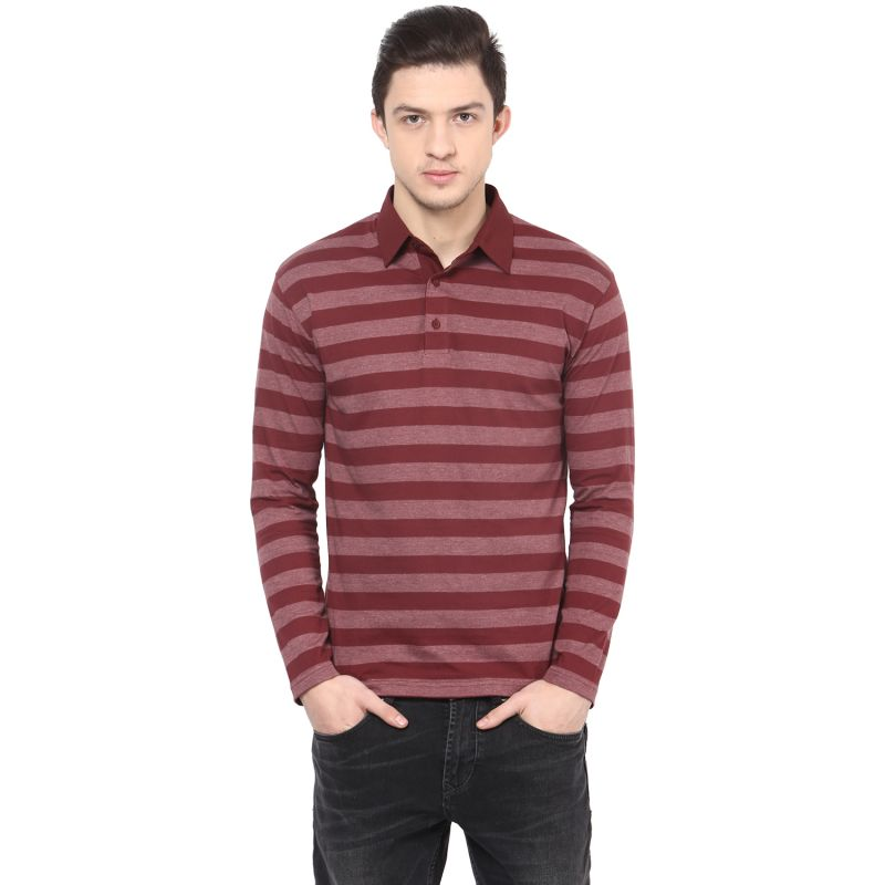 Buy Hypernation Solid Men Polo Neck T-shirt_hypm0605 online