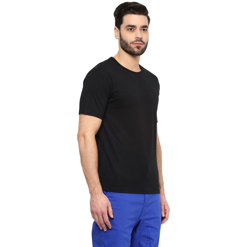 Buy Hypernation Solid Men Round Neck T-Shirt online