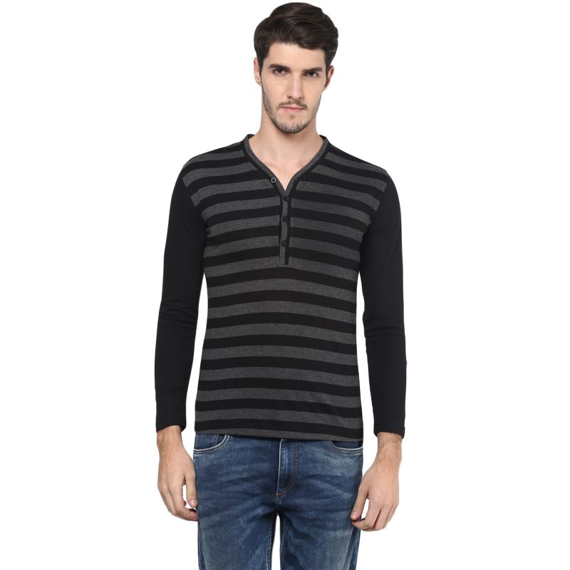 Buy Hypernation Striped Men Henley T-shirt online