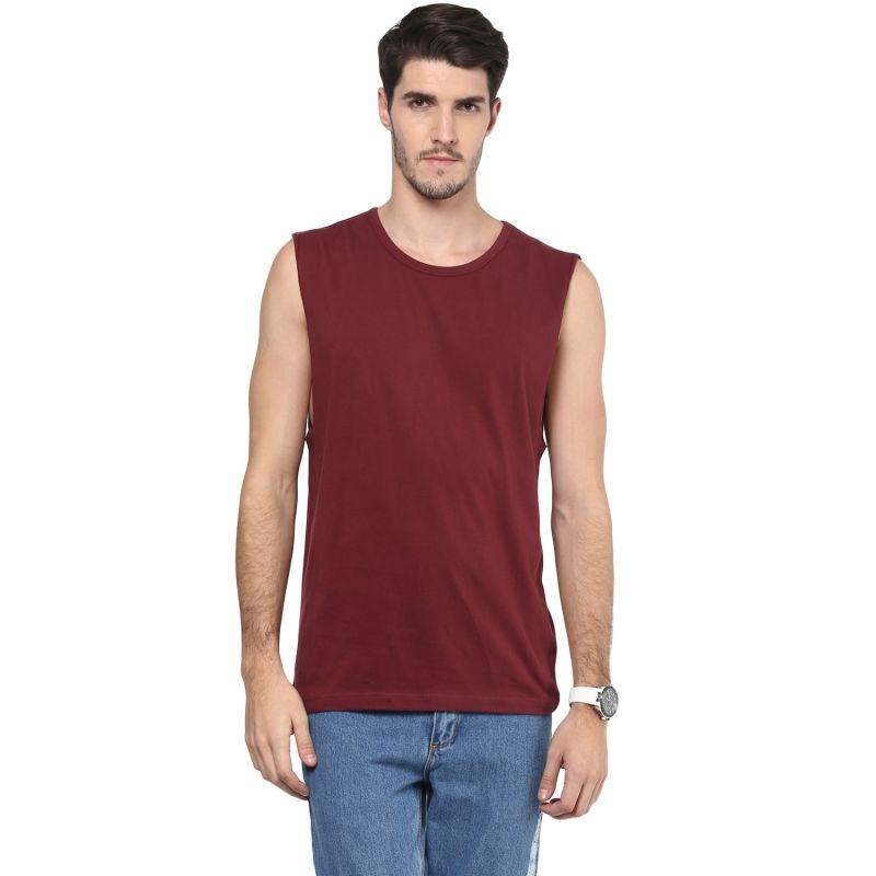 Buy Hypernation Solid Men Round Neck Muscle T-shirt online
