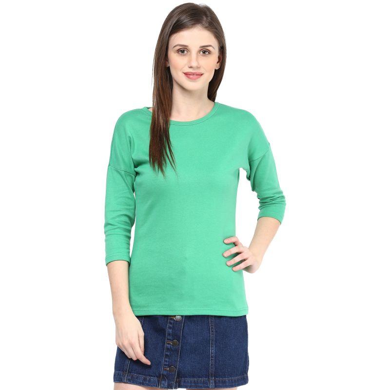 Buy Hypernation Solid Women Round Neck T-shirt_hypw0734 online