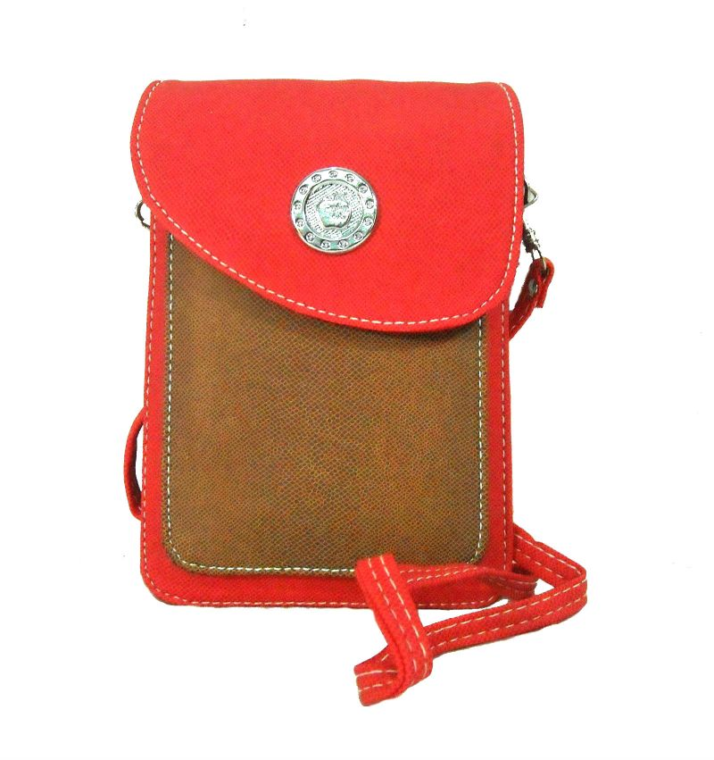 Buy Estoss Red & Brown Mobile Or Tab Sling Bag For Womens Online ...