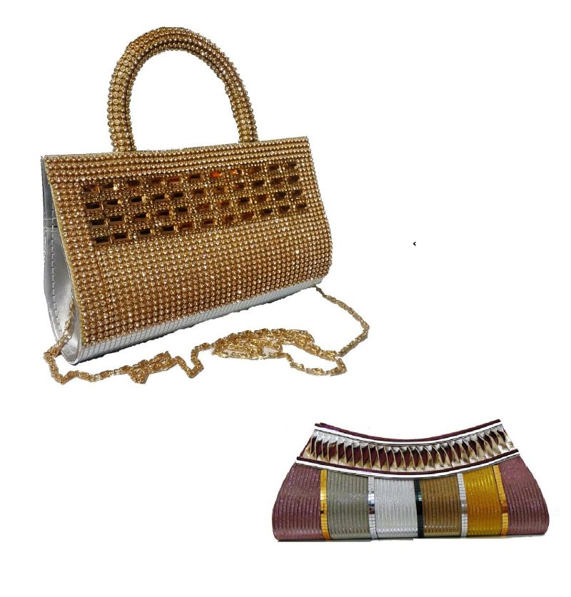 Buy Estoss Buy 1 Get 1 - Yellow Party Clutch And Multicolor Party Clutch For Gift online