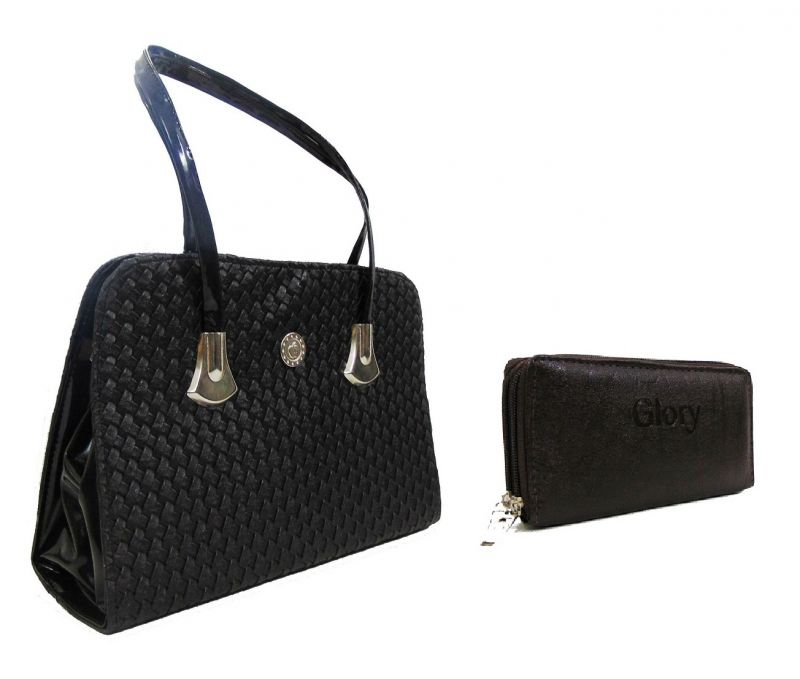 Buy Estoss Black Handbag And Brown Pouch Clutch Combo Of 2 online