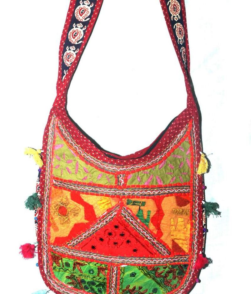 Buy Grj India Multicolor Handmade Ethnic Banjara Sling Bag Online ...