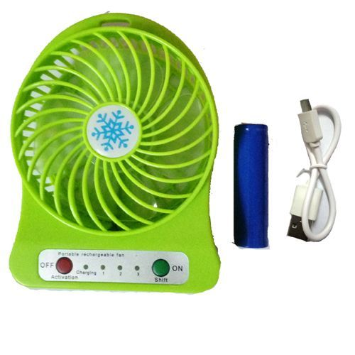 Buy Mini Portable Rechargable Fan (assorted Color) online