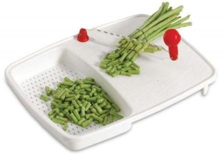 Buy Cut N Wash Chopping Board With Fixed Knife For Kitchen Vegetable Cutter Cum online