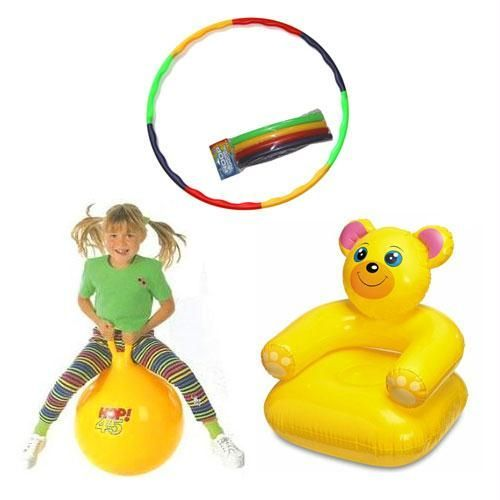 Buy Hula Hoop Hop Ball & Inflatable Teddy Chair online