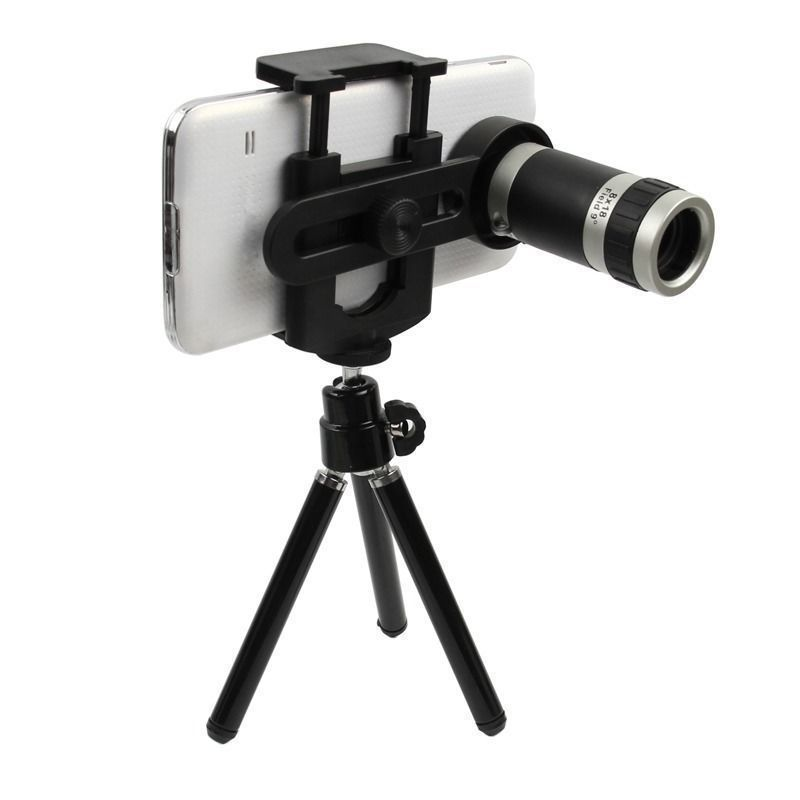 Buy Universal 8x Optical Zoom Telescope Camera Lens With Mini Tripod Holder online