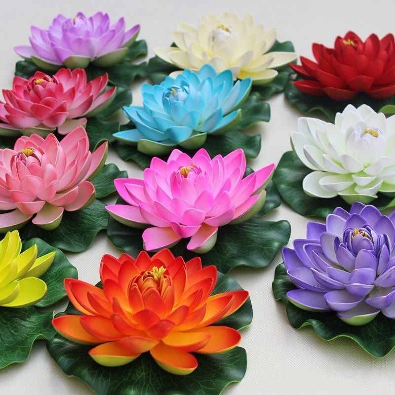 Buy Real Touch Artificial Lotus Flower Foam Lotus Flowers Water Lily