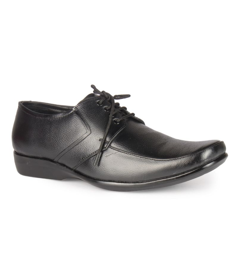 Buy Leather King Genuine Leather Black Formal Shoes - (code -lk-2009-47-bk) online