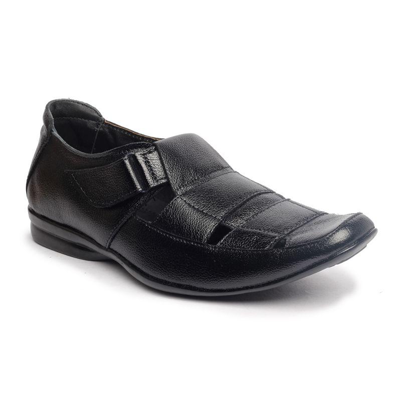 Buy Leather Soft Genuine Leather Black Formal Shoes - (code -ls-rk-02-bk) online