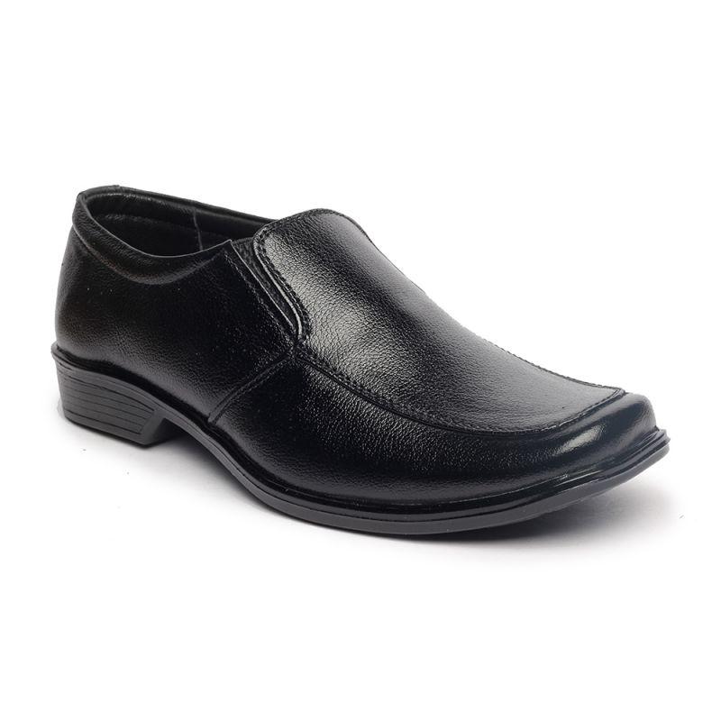Buy Leather Soft Genuine Leather Black Formal Shoes - (code -ls-rk-04-bk) online
