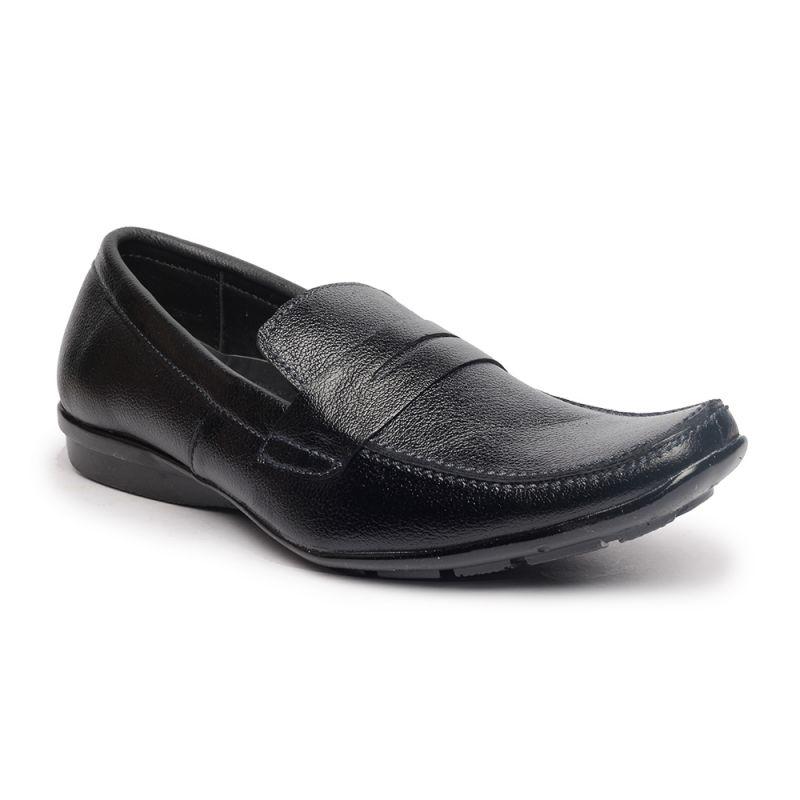 Buy Leather Soft Genuine Leather Black Formal Shoes - (code -ls-rk-05-bk) online