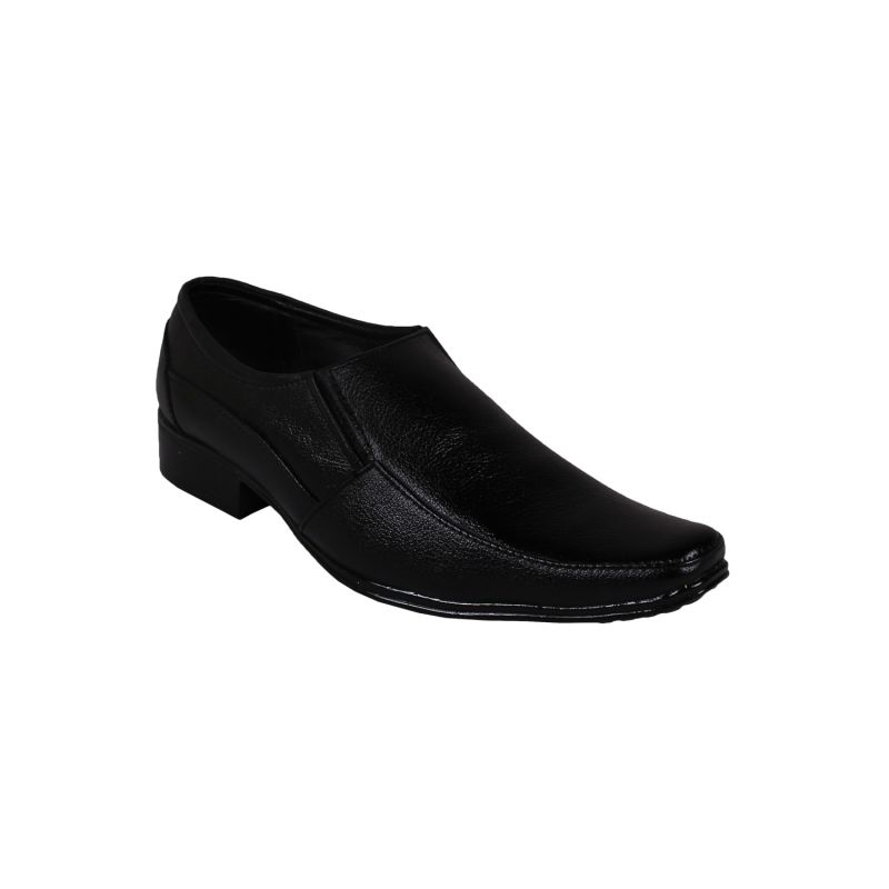 Buy Leather Soft Genuine Leather Black Formal Shoes - (code -ls-rk-11-bk) online