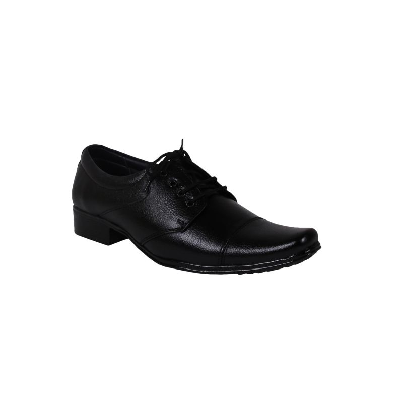 Buy Leather Soft Genuine Leather Black Formal Shoes - (code -ls-rk-16-bk) online