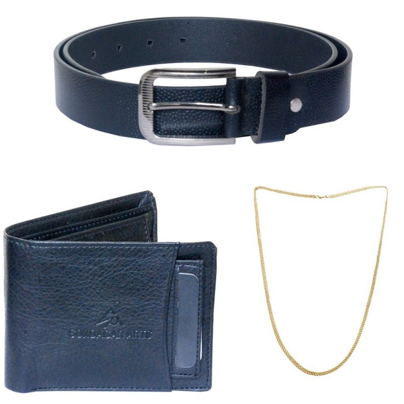 Buy Sondagar Arts Latest Belts Wallet Chain Combo Offers For Men online