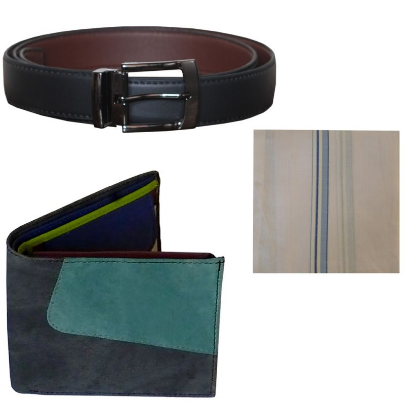 Buy Sondagar Arts Formal Black Belt Wallet Combo Offers For Men online