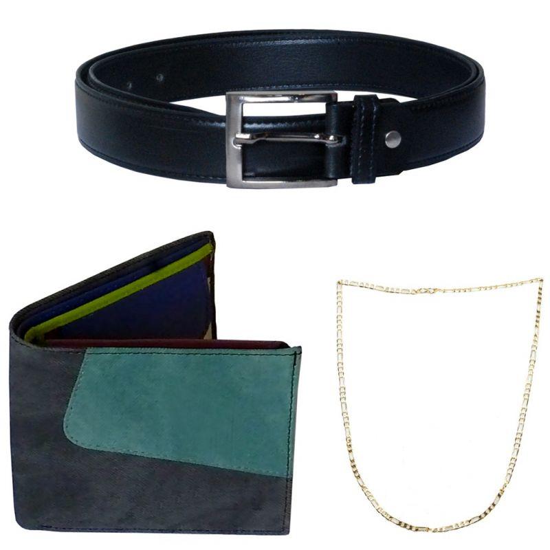 Buy Sondagar Arts Latest Belt Wallet Chain Combo Offers For Men online
