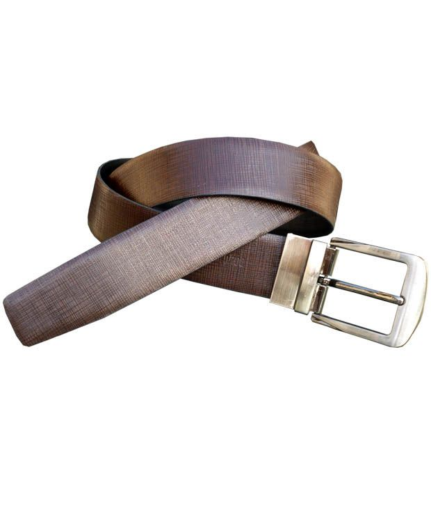 Buy Sondagar Arts Italian Leather Black And Brown Mens Belt online