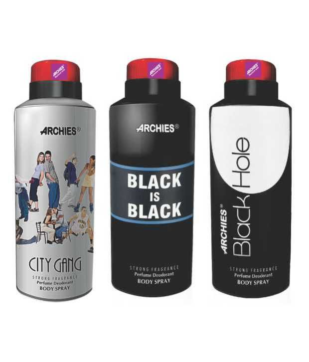 Buy Archies Deo City Gang & Black Is Bkack & Black Hole online