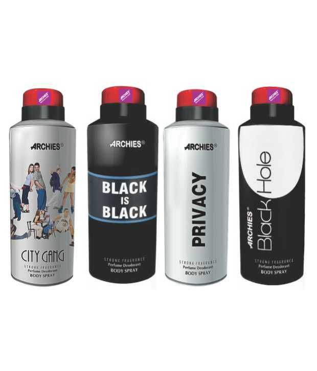 Buy Archies Deo City Gang & Black Is Bkack & Privacy & Black Hole-(code-vj574) online