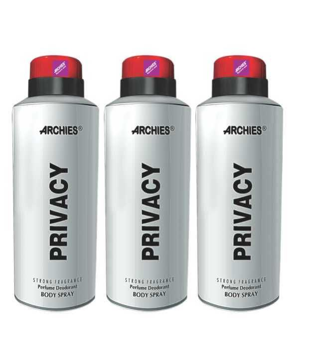 Buy Archies Deo Privacy (set Of 3)-(code-vj585) online
