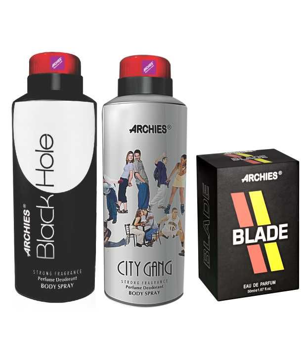 Buy Archies Deo City Gang & Black Hole   Perfume Blade online