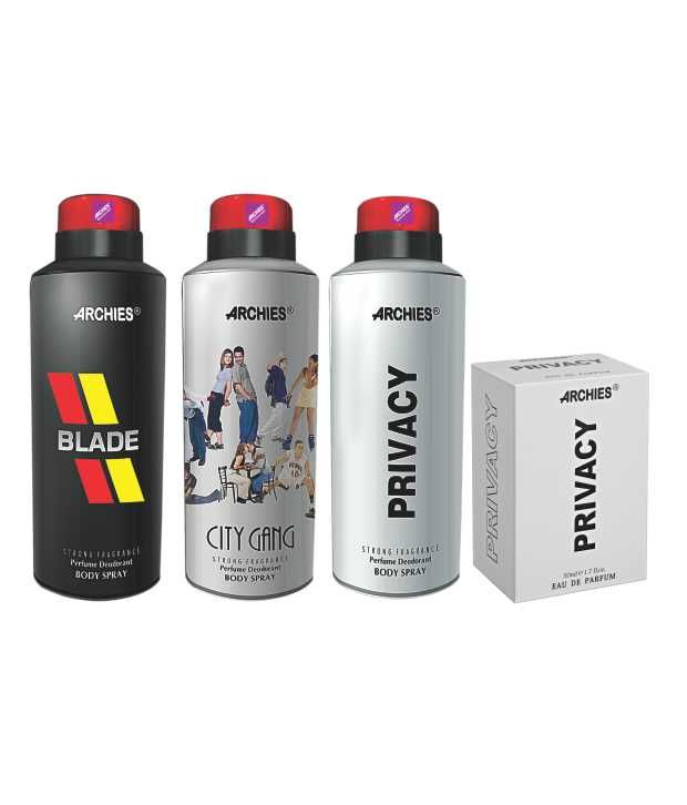 Buy Archies Deo City Gang & Blade & Privacy   Perfume Privacy online