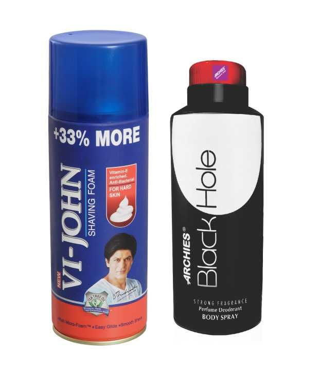 Buy Archies Deo Black Hole & Vijohn Shave Foam 400gm For Hard Skin-(code-vj775) online