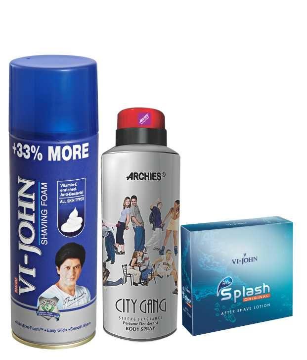 Buy Archies Deo City Gang & Vijohn Shave Foam 400gm For All Type Of Skin & After Shave Splash-(code-vj780) online