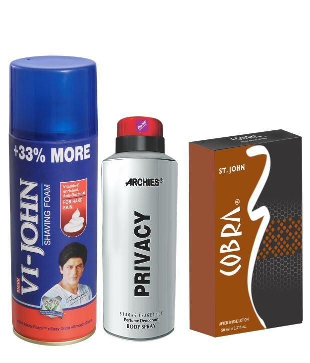 Buy Archies Deo Privacy & Vijohn Shave Foam 400Gm For Hard Skin & After Shave Cobra online