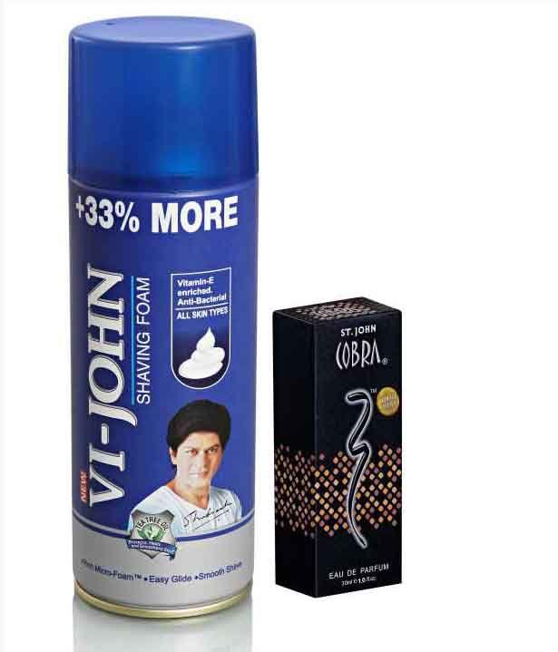 Buy St.john-vijohn Shave Foam 400gm For Hard Skin & Cobra Perfume 30ml-(code-vj83) online