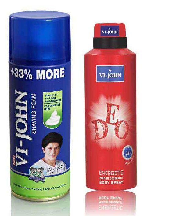 Buy St.john-vijohn Shave Foam 400gm For Sensitive Skin & Vijohn Deo Energetic-(code-vj96) online