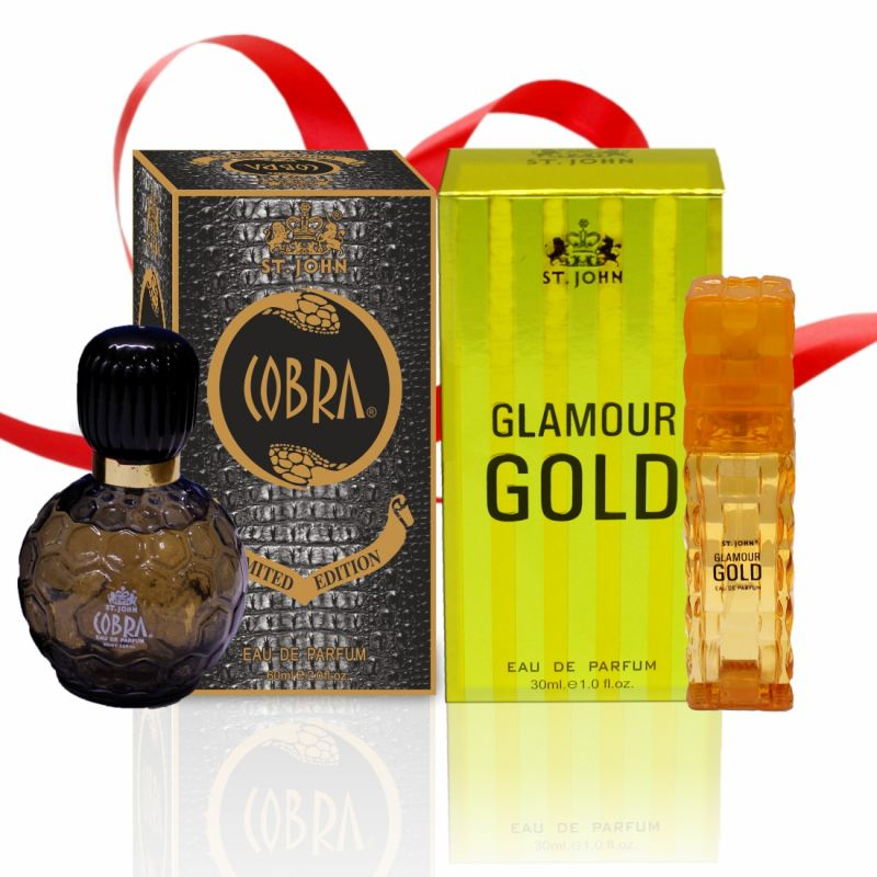 Buy Couple Perfume Gift Set Cobra 60ml, Glamour Gold (pack 2) online