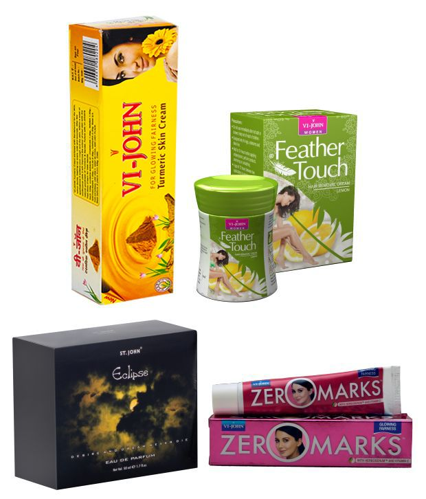Buy St.Johnvijohn Women Care Kit (Hair Remover Lime & Turmeric Cream Fairness Cream & Body Butter & Perfume Eclips) online